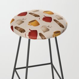Brown Fall Style Tea and Coffee Bar Stool