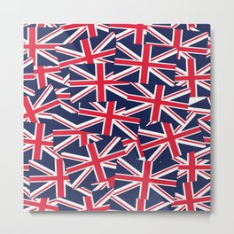 Union Jack Flags Metal Print