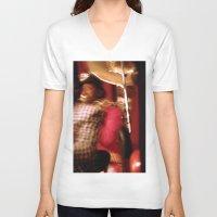 cuba V-neck T-shirts featuring Cuba Tuba by Sandra Ireland Images