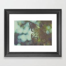 Bokeh With Butterfly Wings Framed Art Print