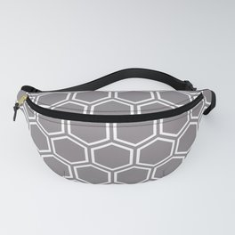 Gray and white honeycomb pattern Fanny Pack