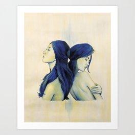 Swan Sisters Art Print