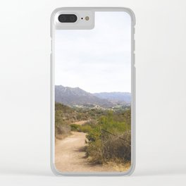 Wide Open Trail Clear iPhone Case