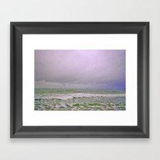 Dreary Day At Sea Framed Art Print