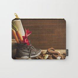 Shoe with carrots, for traditional Dutch holiday 'Sinterklaas' Carry-All Pouch