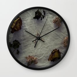 Dried Flowers and Wishbone Wall Clock