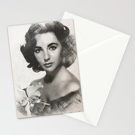 Elizabeth Taylor Sketch Stationery Cards