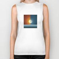 sun and moon Biker Tanks featuring Sun & Moon by Angelina Fenty