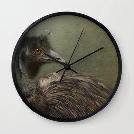 A happy Emu Wall Clock