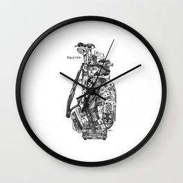 King of Clubs Wall Clock