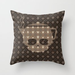 The Nik-Nak Bros. Coughy Break Deluxe Throw Pillow
