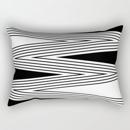 Black and white abstract pattern . 5 Rectangular Pillow