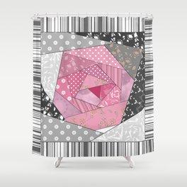 Needlework 1 . Patchwork. Roses. Shower Curtain
