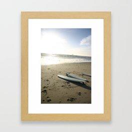 3 lone boards Framed Art Print