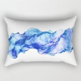 Azure Wave Rectangular Pillow