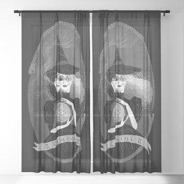 Gemini Witchy Zodiac Sheer Curtain