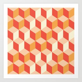 Geometry Sunset Art Print