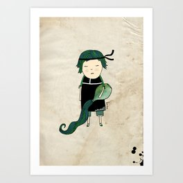 Aquarius Boy Art Print