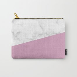 Marble and blush pink Carry-All Pouch