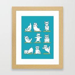 West Highland Terrier Yoga Framed Art Print