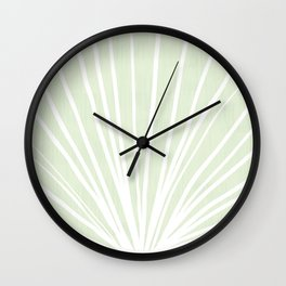 Dandelions in Mint by Friztin Wall Clock
