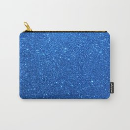 Midnight Sky Sparkly Blue Glitter Carry-All Pouch