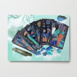 Tarot Card Mystical Gypsy Fortune Teller Fantasy Metal Print