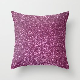 Pink Lavender Glitter with Silvery Highlights Throw Pillow