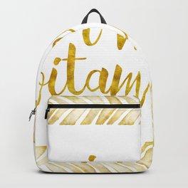 i need vitamin sea! in gold Backpack