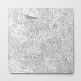 Elephant World Metal Print