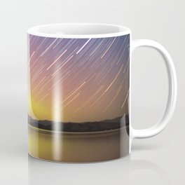 Aurora at Flat Head Lake Coffee Mug