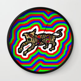 Colour Tiger Wall Clock