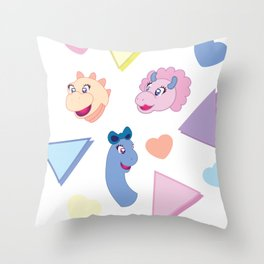 Nineties Dinosaur Jurassic Girlz Pattern Throw Pillow