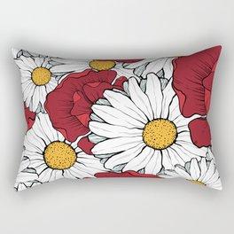 Beautiful flowers seamless pattern Rectangular Pillow