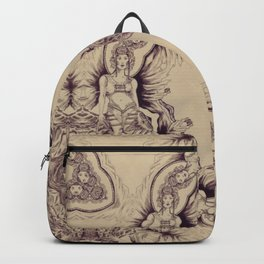 Elegant etnic chineese arabic exotic soft Backpack