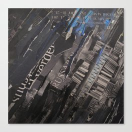 collage black and blue Canvas Print