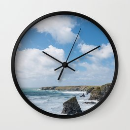 Bedruthan Steps Newquay Cornwall Wall Clock
