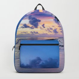 Picturesque Beach View (Color) Backpack
