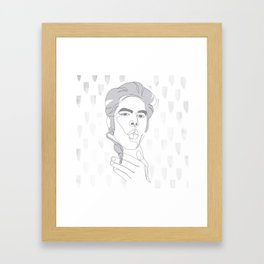 Jim Jarmusch - one line art Framed Art Print