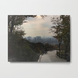 Seoul Skyline Metal Print