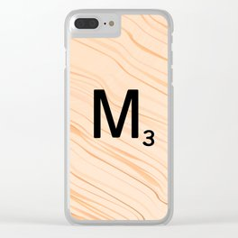 Scrabble Letter M - Large Scrabble Tiles Clear iPhone Case