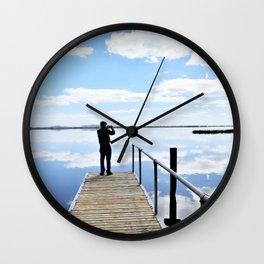 Lake Colac Reflections Wall Clock