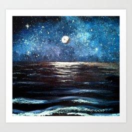 Beach Galaxy Art Print