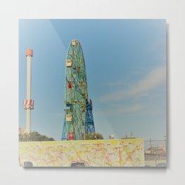 Colorful Coney Island Metal Print