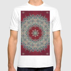 Mandala Nada Brahma  Mens Fitted Tee MEDIUM White