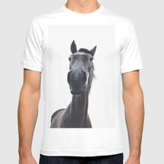 Simply horse White Mens Fitted Tee MEDIUM