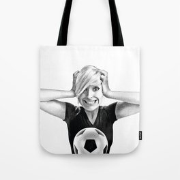 Crazy Female Soccer Fan Tote Bag