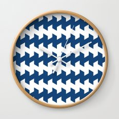 jaggered and staggered in monaco blue Wall Clock