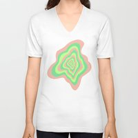 watermelon V-neck T-shirts featuring Watermelon by Popsicle Illusion