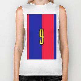 soccer team jersey number nine Biker Tank